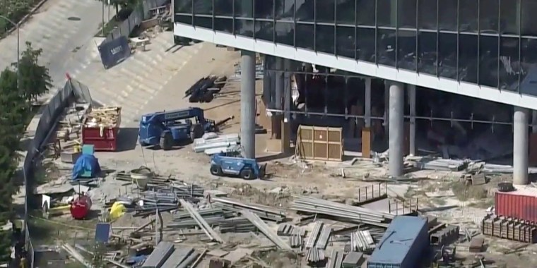 Image: Partial building collapse