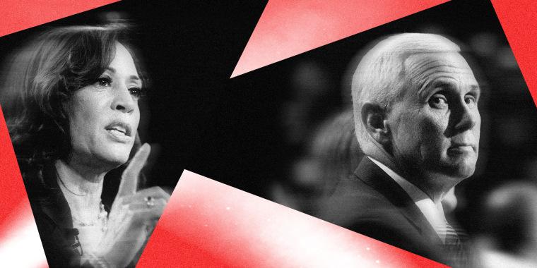 Image: Kamala Harris and Vice President Mike Pence.