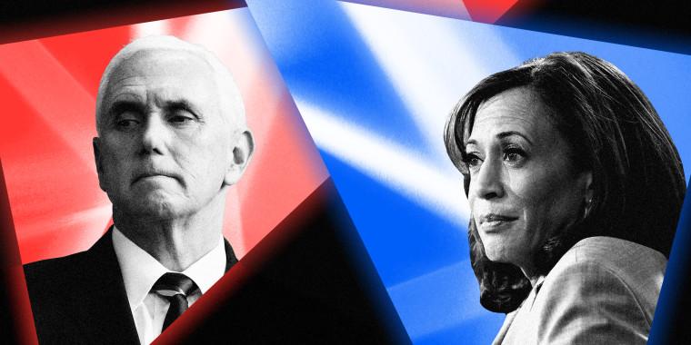 Joe Biden's running mate, Kamala Harris, debates Vice President Mike Pence in Salt Lake City, Utah on Wednesday.