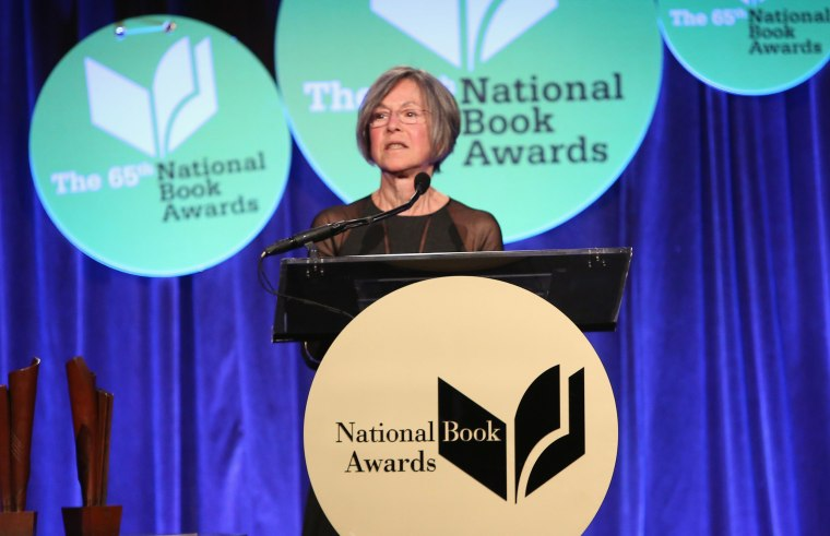 Image: Louise Gluck attends the National Book Awards in New York City.