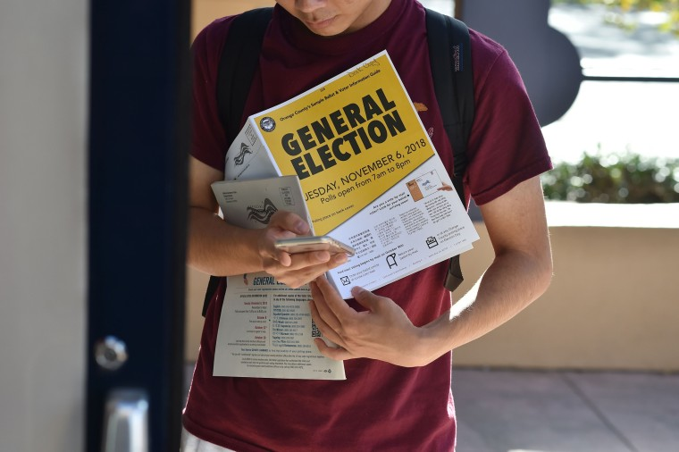 Image: University of California polling station