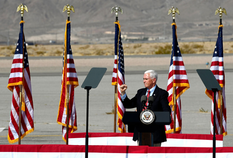 Image: Vice President Mike Pence Holds A Campaign Rally In Nevada
