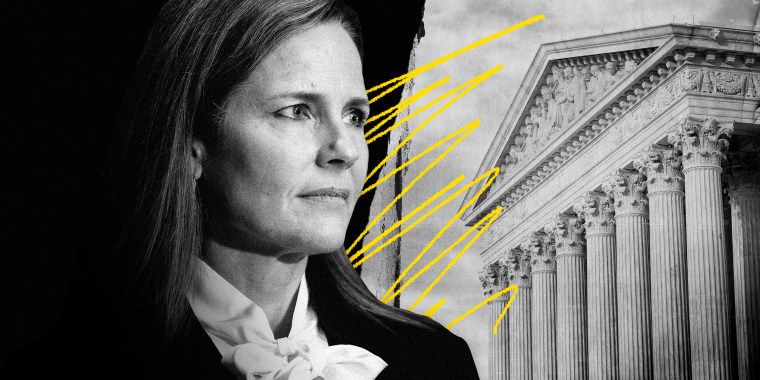 Image: Judge Amy Coney Barrett will attend Supreme Court confirmation hearings before the Senate on Monday and Tuesday.