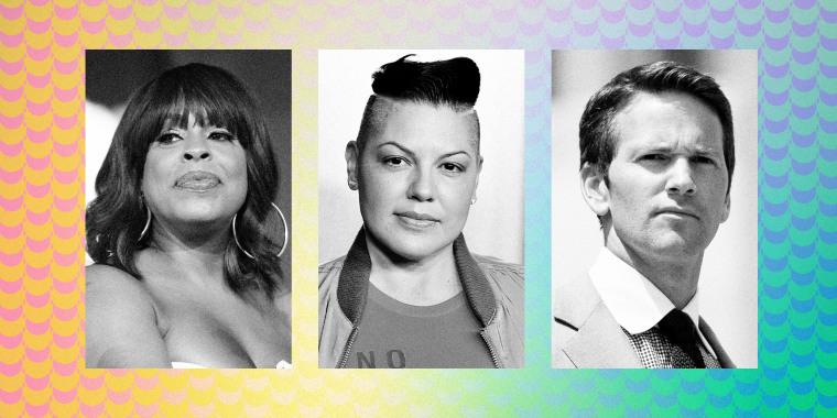 Image: Nicey Nash, Sara Ramirez and Aaron Schock.