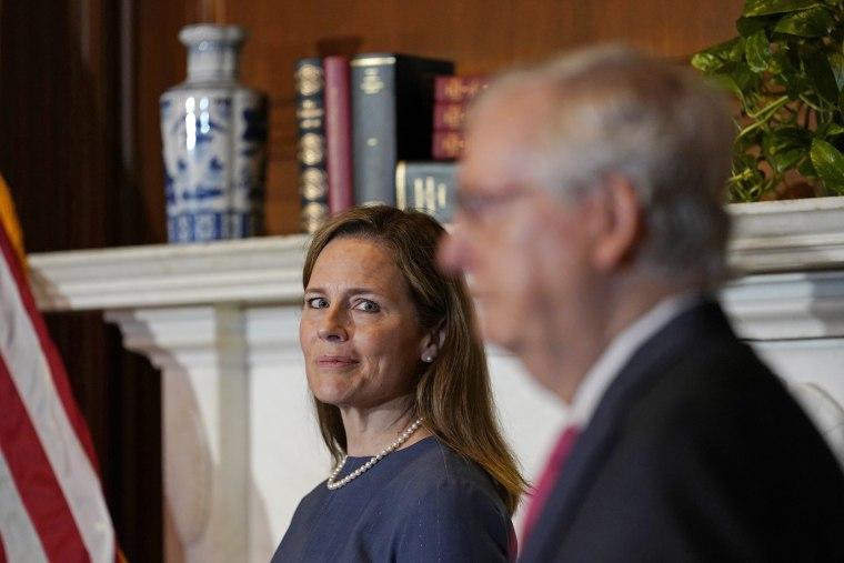 Image: Senators Meet With Supreme Court Nominee Amy Coney Barrett