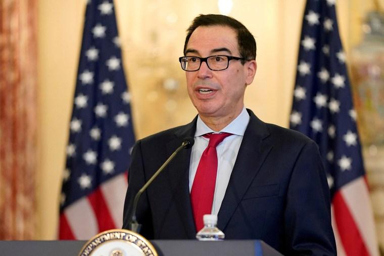 Image: FILE PHOTO: U.S. Treasury Secretary Mnuchin addresses news conference on Iran sanctions in Washington