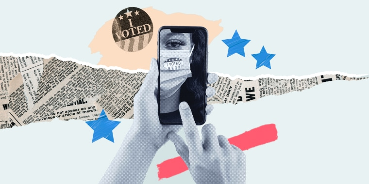 Photo collage Where are Gen Z voters getting their info?