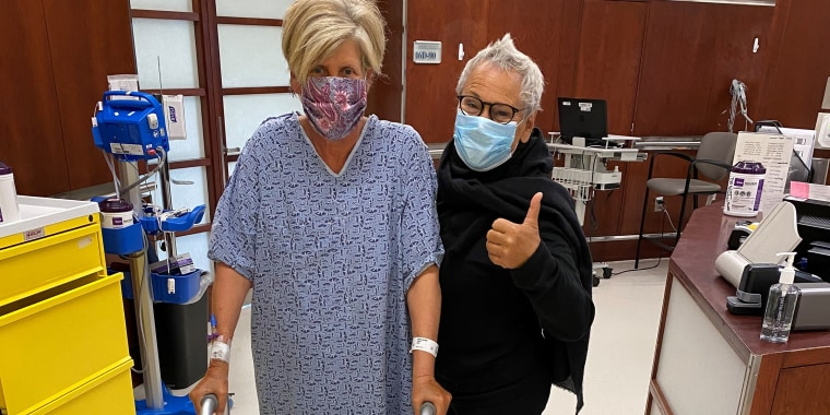 Three days after spinal surgery, Suze Orman was walking with a walker.