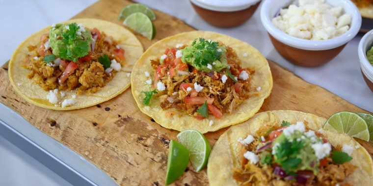 Lighten up Taco Tuesday with these Chicken Carnitas Tacos from Lauren Vitale.