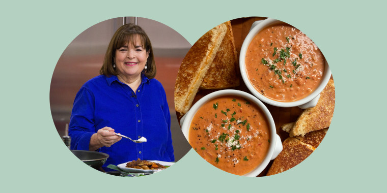 In her new book, Garten turns up the volume on classic comfort foods such as this Creamy Tomato Bisque with Cheddar & Chutney Grilled Cheese.