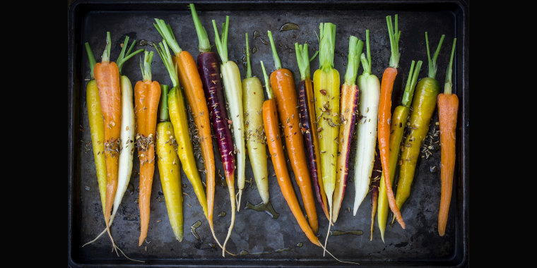 Orange is the most common color, but carrots come in a rainbow of hues.