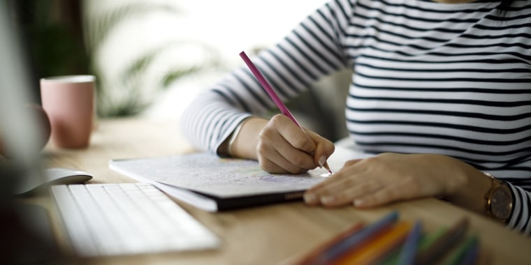 Coloring and doodling can actually help you feel calmer.