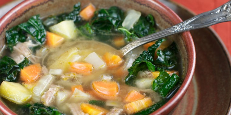 Studies have found that chicken soup may reduce cold symptoms making it the ultimate healthy, comfort food.