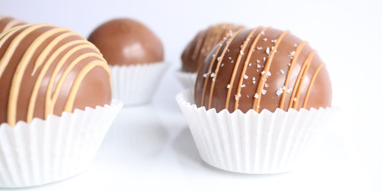 Hot chocolate bombs are gaining popularity on social media.