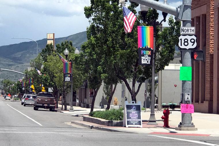 Herber City Gay pride flags is fueling national debate