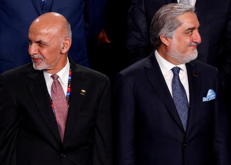 Image: Ashraf Ghani and Abdullah Abdullah