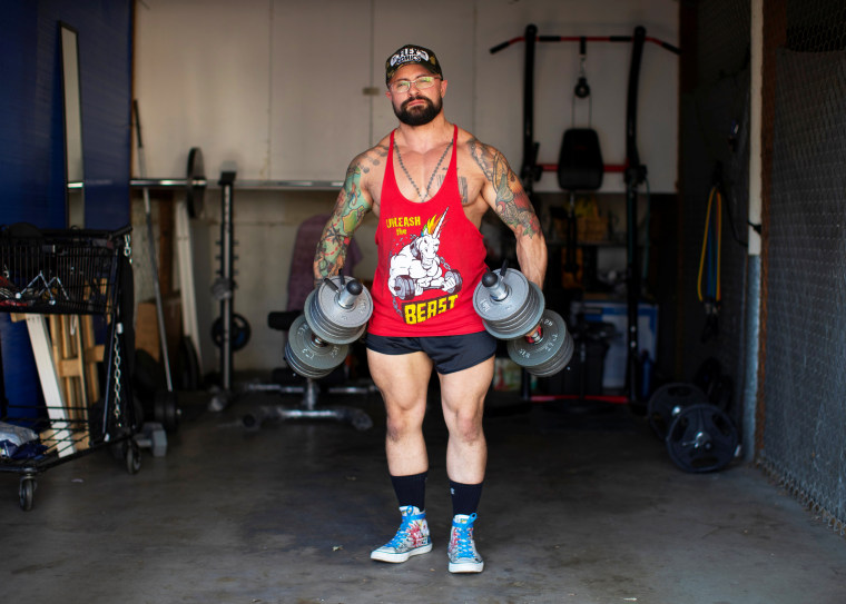 Image: Paulo Batista, a transgender man who is training to enlist in the U.S. military despite the Trump administration's ban on transgender people