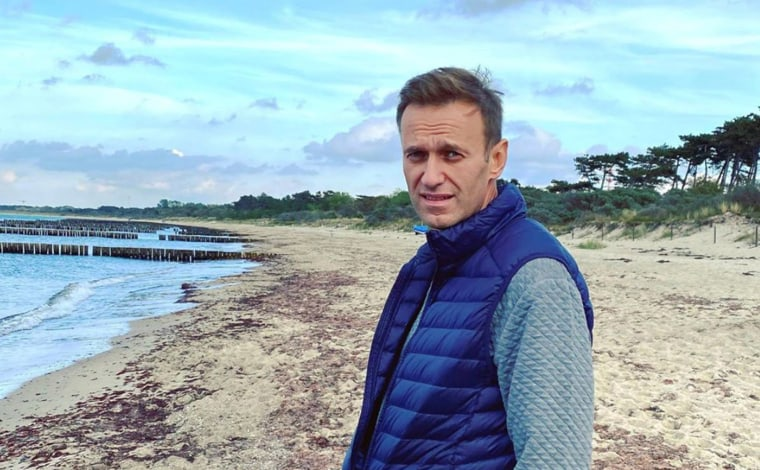 Image: Russian opposition politician Alexei Navalny poses for a picture in an unknown location