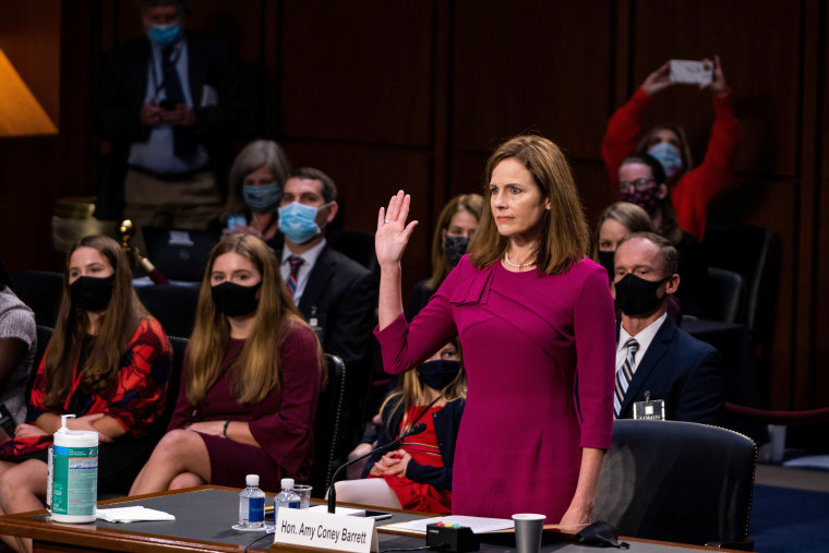 Image: U.S. Senate holds confirmation hearing for Barrett to be Supreme Court justice in Washington