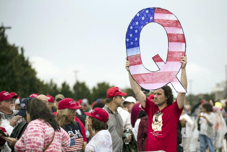 Image: Qanon supporter