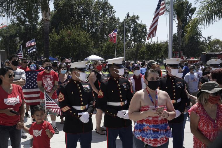Image: Marine memorial procession