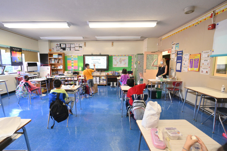 Image: New York City School Children Return To In-Person Classes