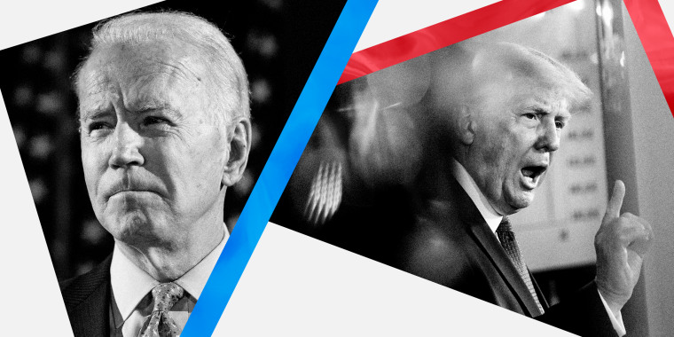 Image: President Donald Trump and Joe Biden will have separate town hall events on Thursday night.