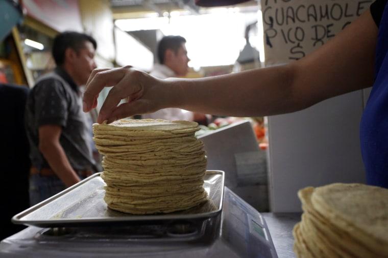 Image: tortilla factory in Mexico City