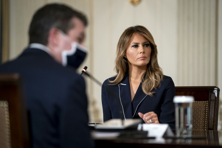 First Lady Melania Trump Attends Briefing For Indian Health System Taskforce