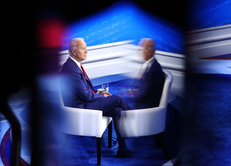Image: Democratic Presidential Candidate Joe Biden Answers Constituents' Questions At Philadelphia Town Hall