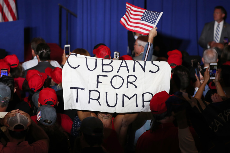 """Image: Mike Pence Launches \""""Latinos For Trump\"""" Coalition In Miami"""