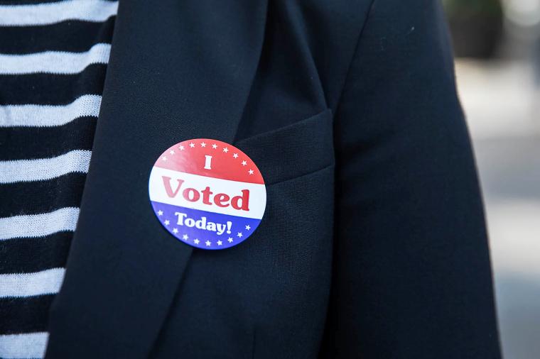 Image: I voted today sticker, US-VOTE