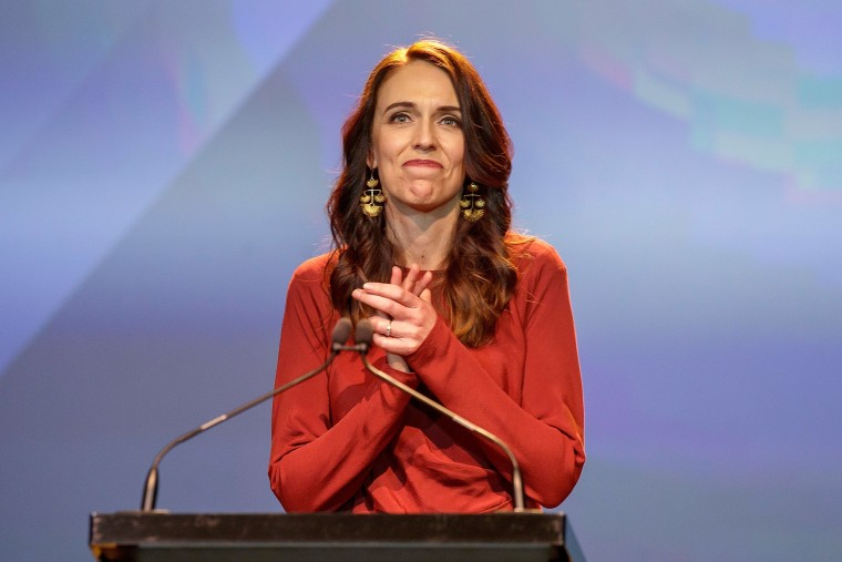 Image: New Zealand Prime Minister Ardern claims victory at the Labour Party election night event in Auckland