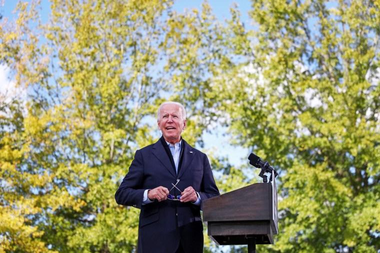 Image: Democratic presidential candidate Joe Biden campaigns in North Carolina
