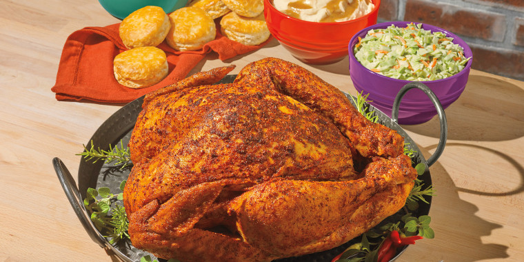 Popeye's Thanksgiving staple, the Cajun Style Turkey hand-rubbed with Louisiana seasonings has returned starting at $40.