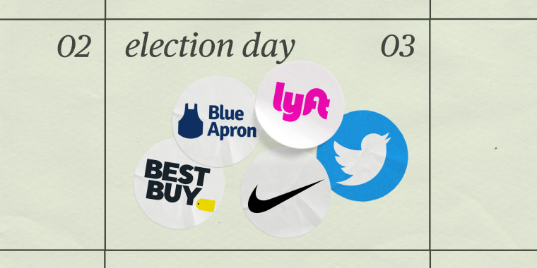 Companies like Best Buy and Nike are changing their hours on Election Day to encourage employees to go to the polls.