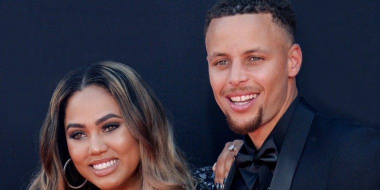 Steph Curry and his Ayesha Curry