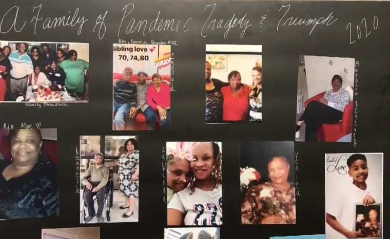 Family photos show members of Erin Griffin's family, three of whom died of COVID-19.