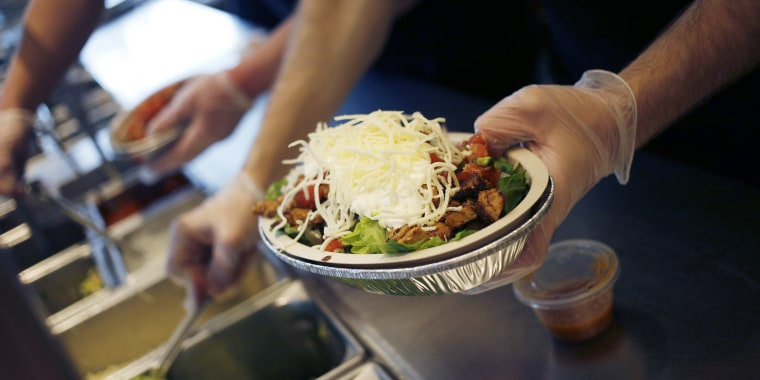 Customers ordering tortillas on the side with a burrito bowl at Chipotle will now have to pay for them.