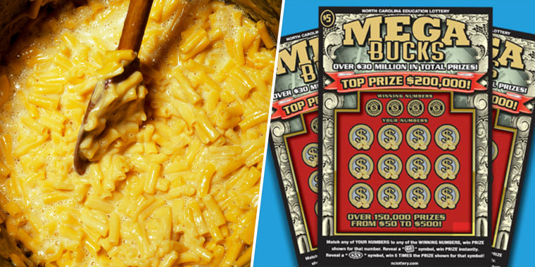 A North Carolina man won $200,000 on a scratch-off lottery ticket while going on a mac-and-cheese run to a local store.
