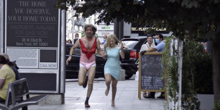 "Sacha Baron Cohen and Maria Bakalova in ""Borat Subsequent Moviefilm."""