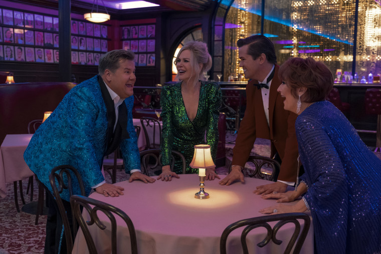 "James Corden, Nicole Kidman, Andrew Rannells and Meryl Streep bring some star power to ""The Prom."""