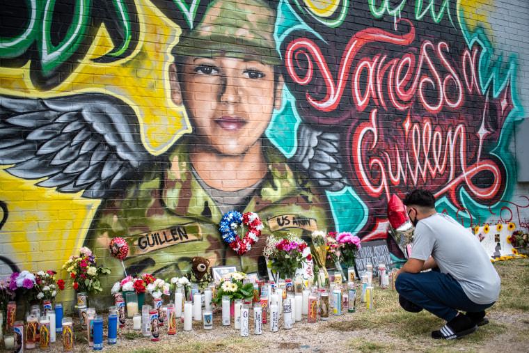 Image: Memorial Set Up In Austin For Murdered Fort Hood Soldier Vanessa Guillen
