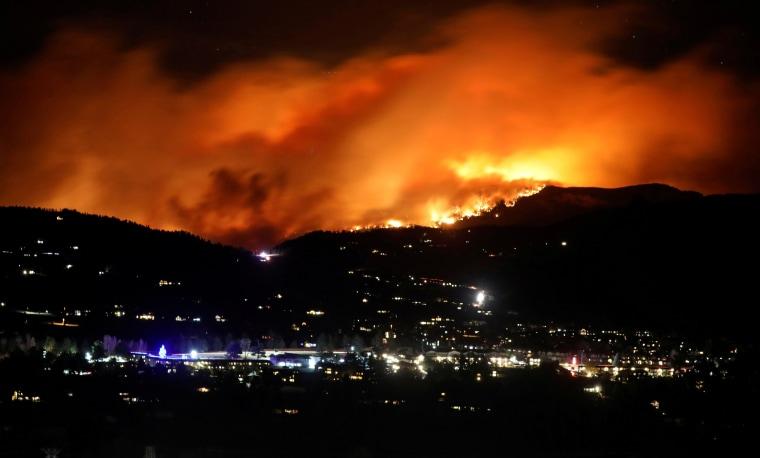 Image: Cameron Peak Fire burns outside Estes Park
