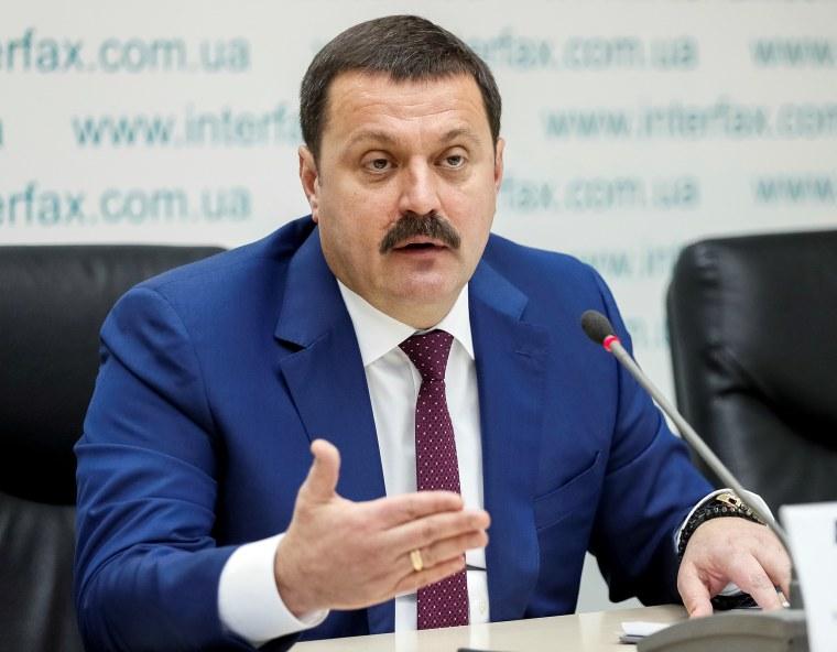 Ukrainian lawmaker Derkach attends a news conference in Kiev