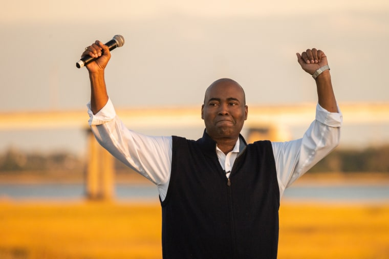 Image: Democratic Challenger To Lindsey Graham, Jaime Harrison Holds Drive-In Campaign Event