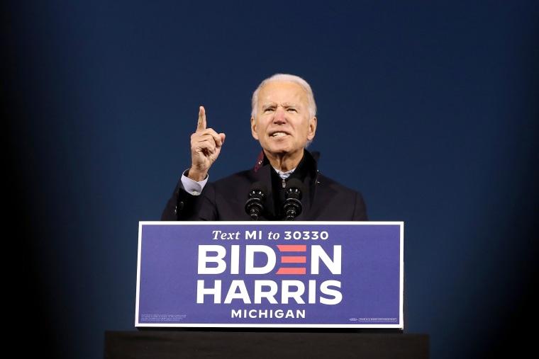 Image: Joe Biden Campaigns For President In Michigan