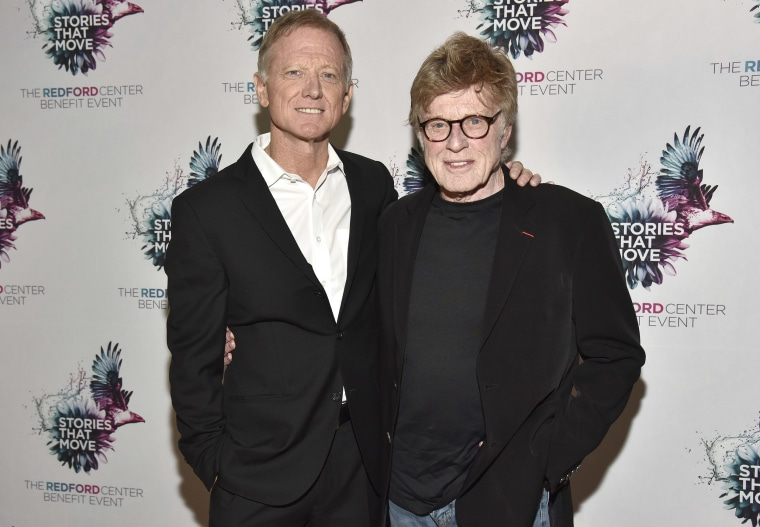 Image: James Redford and Robert Redford attend The Redford Center's Benefit at August Hall