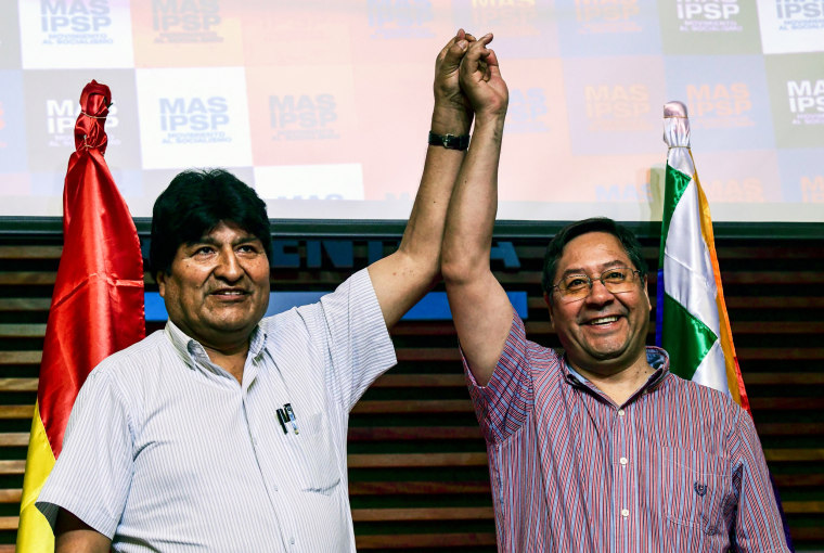 ARGENTINA-BOLIVIA-MORALES-ELECTION-MAS-ARCE