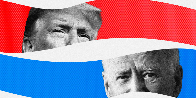 Image: President Donald Trump and Joe Biden will participate in a final presidential debate on Thursday night.